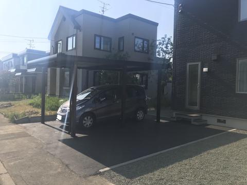 3 北海道 苫小牧市 札幌 カーポート エクステリア 外壁 屋根 とそう 塗装工事 ペンキ屋 西村塗装 nishimura