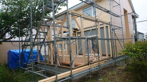2 北海道 胆振 苫小牧 外壁 屋根 塗装 リフォーム 増築